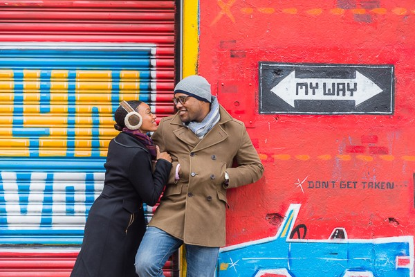 Brooklyn New York Engagement Photos featured on Trendy Groom