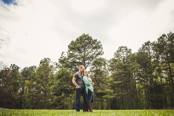 North Carolina engagement photos captured by Tesar Photography - NC. Featured on Trendy Groom