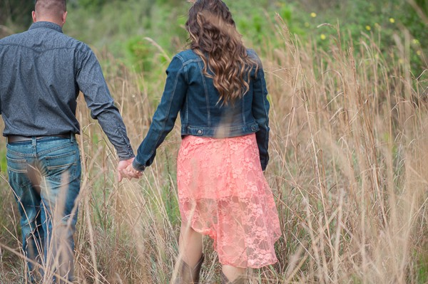 Outdoor rustic Florida engagement photos by Captured By Belinda. Featured on Trendy Groom.