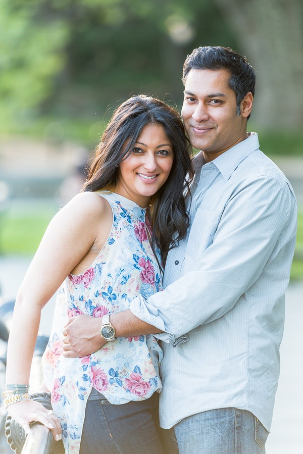 Brooklyn Heights Promenade Engagement Session. Captured by Origin Photos. Featured on Trendy Groom.