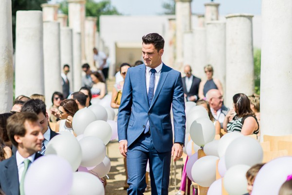Modern blue suit inspiration for the groom. Photos by Love Is My Favorite Color. Featured on Trendy Groom.