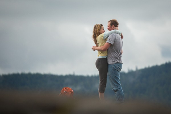 Quarry Rock Surprise Proposal. Captured by Family Creative Imagery. Featured on Trendy Groom.