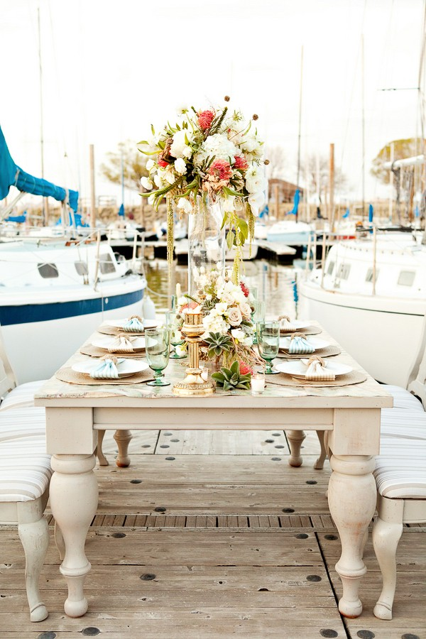 Nautical Themed Styled Shoot. Captured by Cherie Hogan. Featured on Trendy Groom.