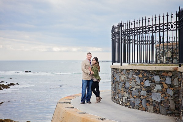 Intimate coastal engagement captured by Brittany Adams Photography. Featured on Trendy Groom.