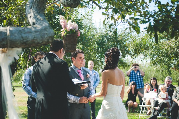 Outdoor Michigan real wedding. Captured by Gage Blake Photography. Featured on Trendy Groom.