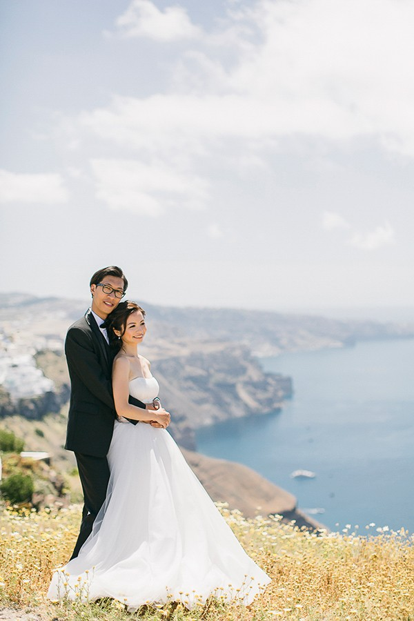 Romantic Greece Honeymoon Shoot. Featured on Trendy Groom Wedding Blog. Captured by Anna Roussos Photography