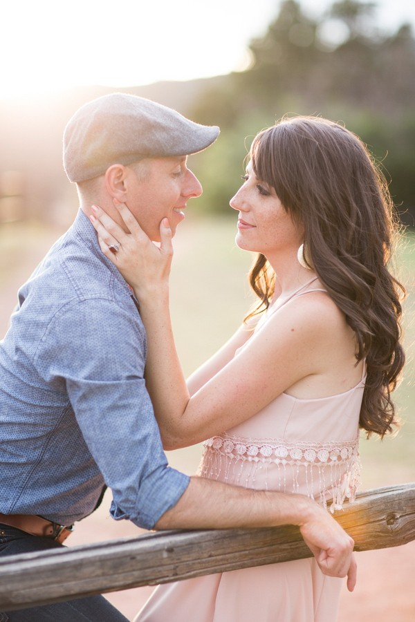 Lovely Colorado engagement photos. Captured by Lucky Malone. Featured on Trendy Groom.