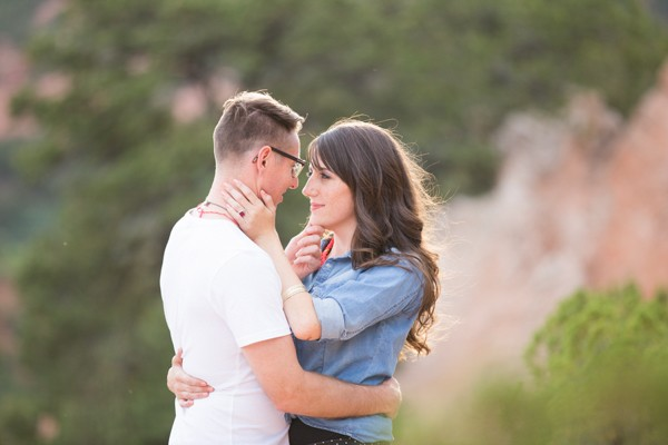 Lovely Colorado mountain engagement photos. Captured by Lucky Malone. Featured on Trendy Groom.