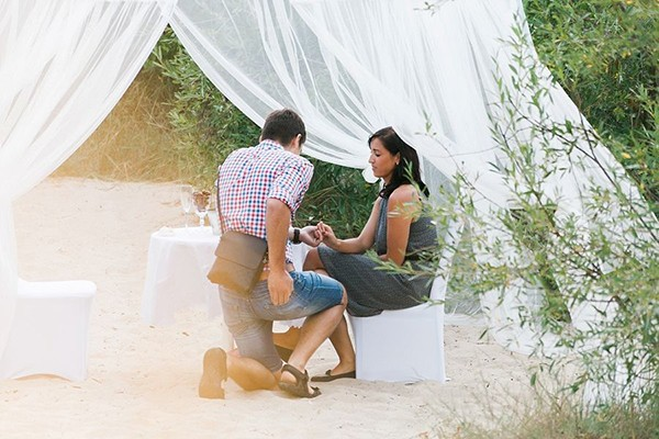 Romantic Palanga Beach Proposal