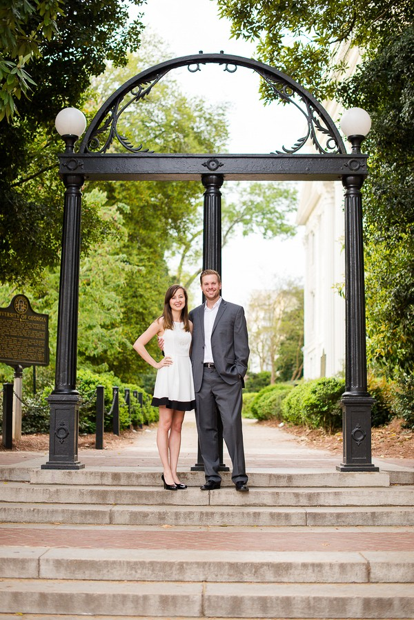 Romantic University of Georgia Engagement Session