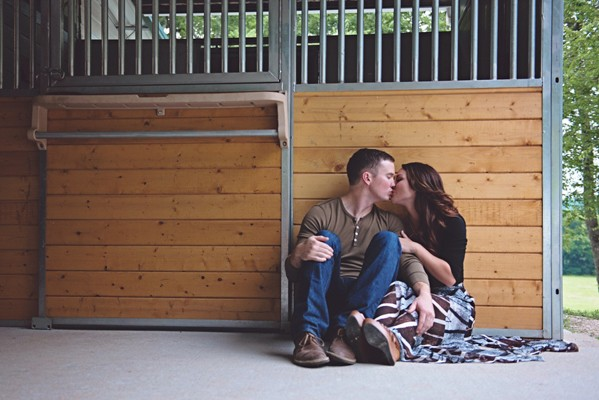 Rustic Tennessee Farm Engagement Photos