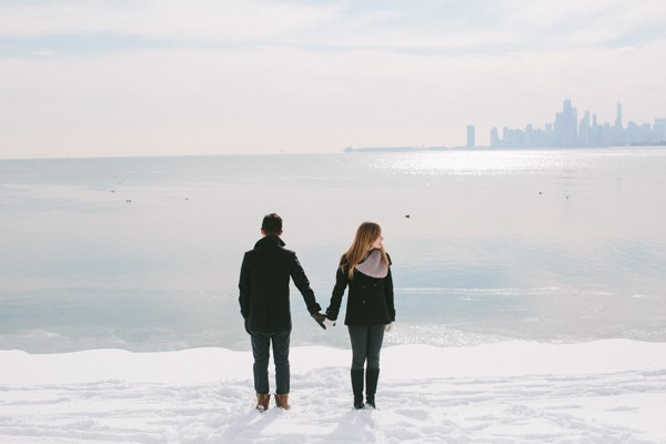 Winter Illinois Engagement Photos