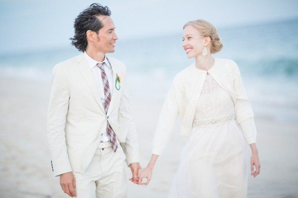 Vintage New York Beach Wedding