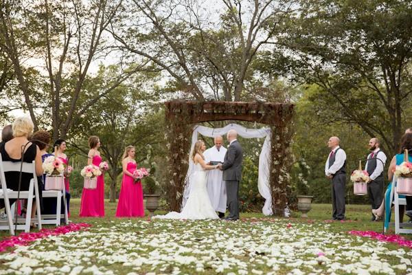 Lovely Pink Outdoor Georgia Wedding