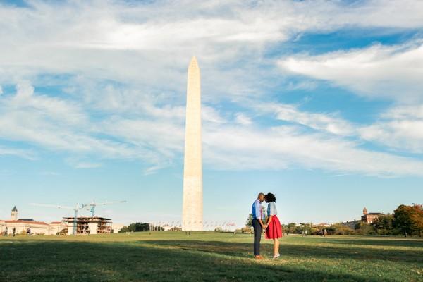 Stylish National Mall Engagement Photos
