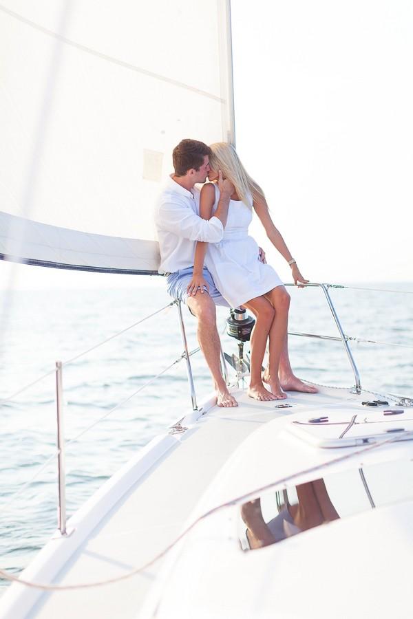 Romantic Sailboat Engagement Session