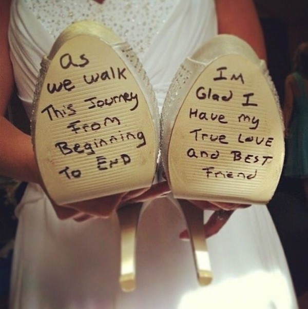 Groom Love Letter To Bride Shoe — Trendy Groom