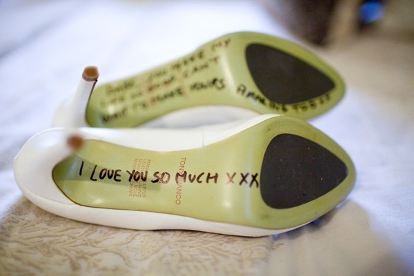 Groom Love Letter To Bride On Shoe