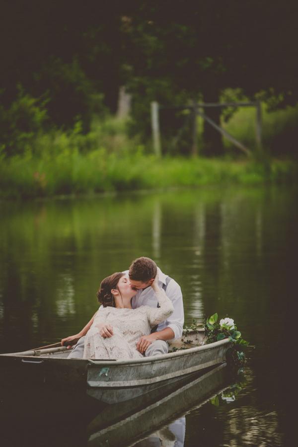 Romantic Pond Engagement Session