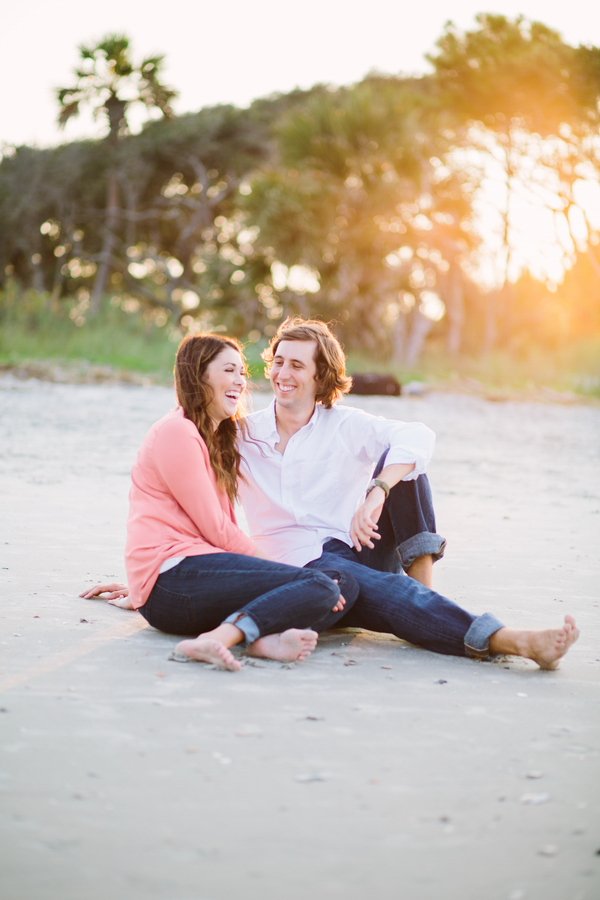 Folly Beach South Carolina Engagement Session