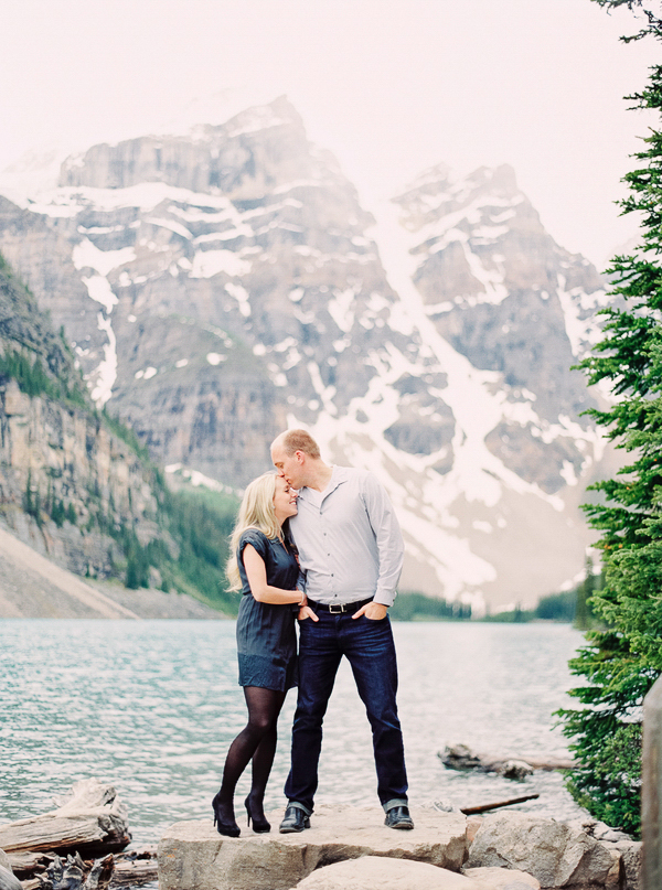 Gorgeous Proposal At Moraine Lake Canada