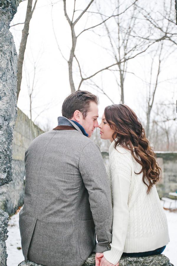 Rustic Winter Pennsylvania Engagement