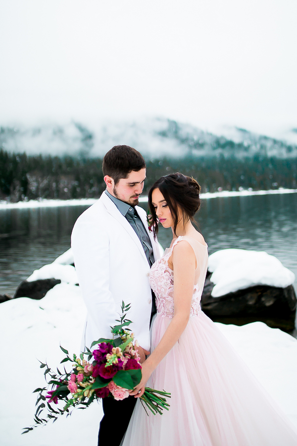 Blush Pink Inspired Winter Wedding-11