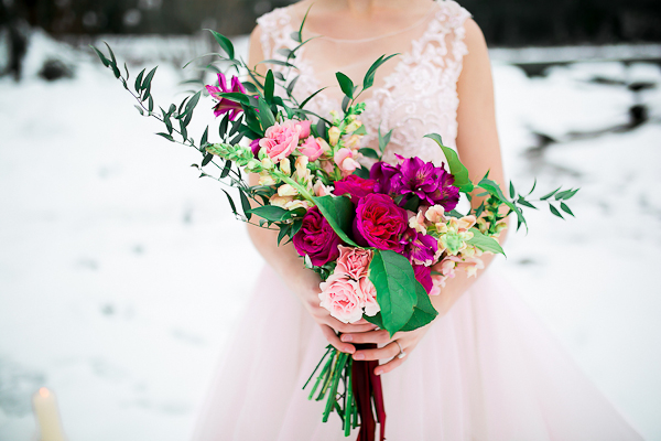 Blush Pink Inspired Winter Wedding