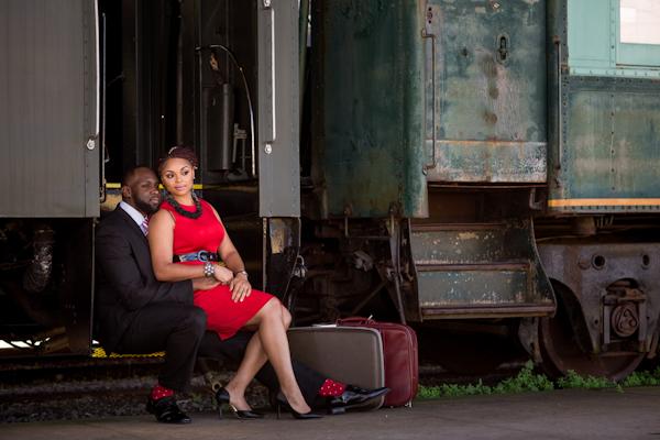 railroad-engagement-session