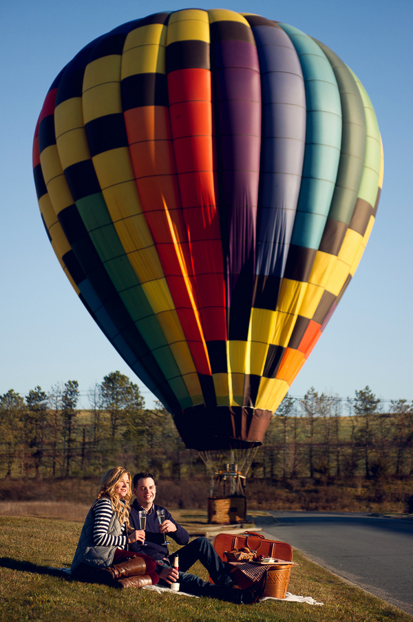 Hot Air Balloon Engagement Session
