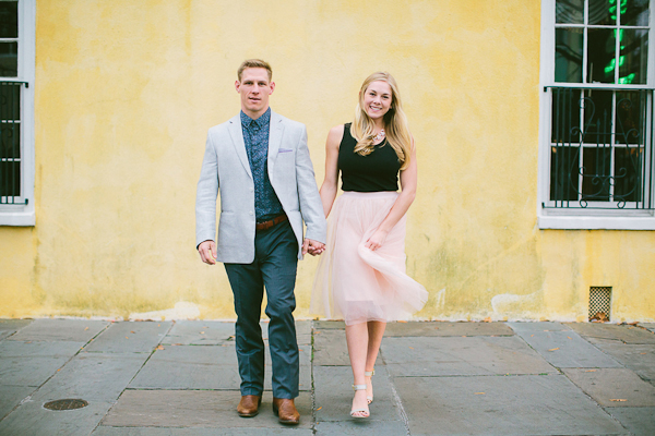 Romantic Downtown Charleston Engagement Session