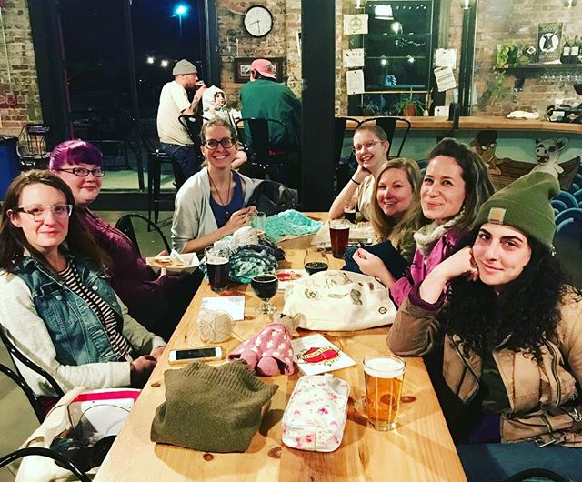 You know when you are fortunate enough to have a group of amazing friends, who also happen to be knitters? I do ❤️ @ashevilleknittingclub is on the first Thursday of every month somewhere in Asheville and we'd love for you to join! This one was @wedgebrewing . #ashevilleknittingclub #ashevilleknitting #knittinggroup #ashevillefolk #avltoday @avltoday  #slowfiber #visitasheville #gettogether #womenwhoknit