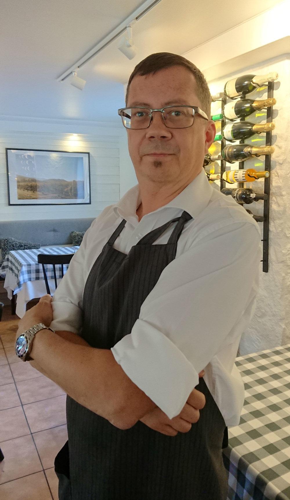 Reijo Asp, restaurangchef Tingsgården Restaurang & Vinkällare