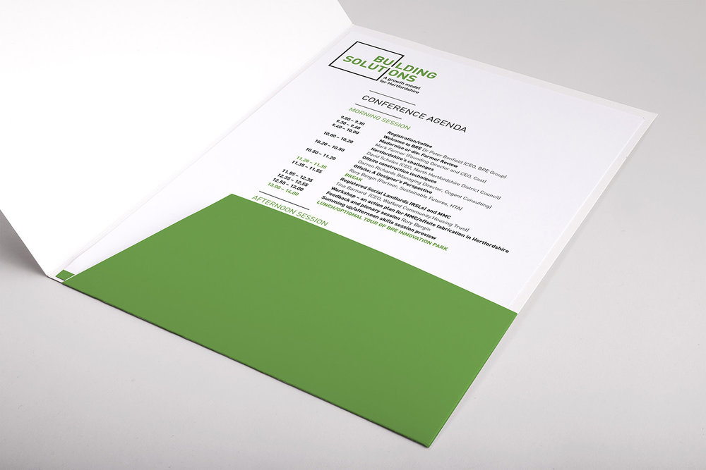 Portfolio project: Building solutions folder inserts | Beehive Green Design Studio