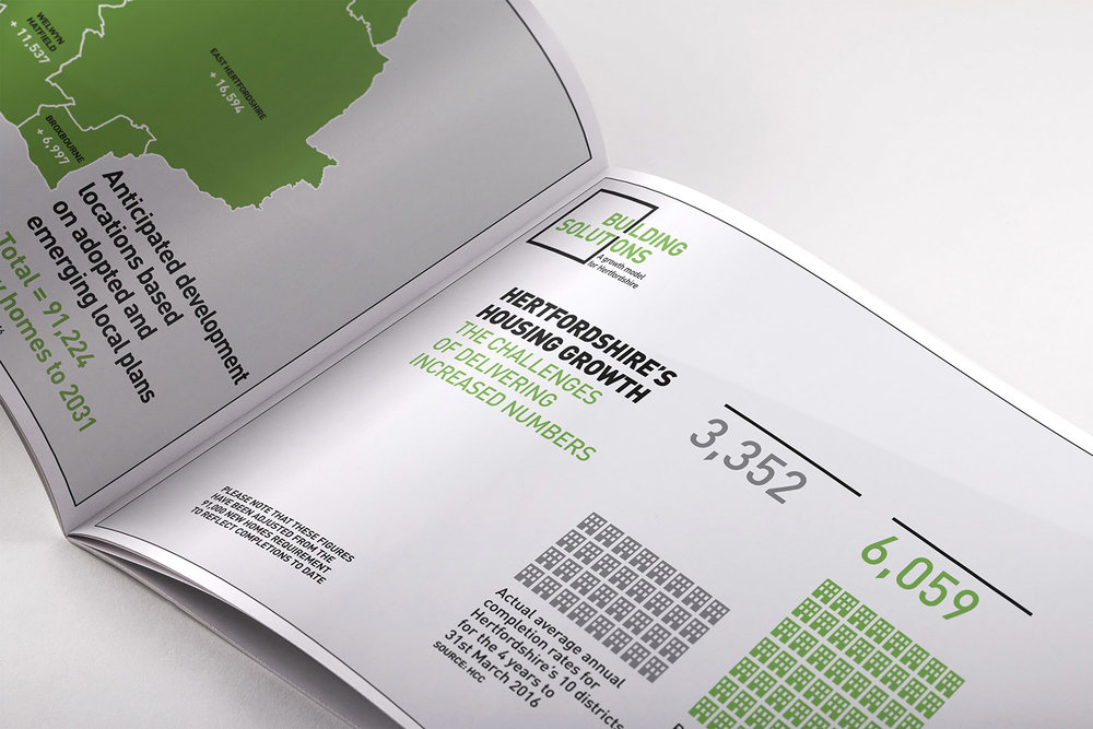Portfolio project: Building solutions brochure infographic | Beehive Green Design Studio