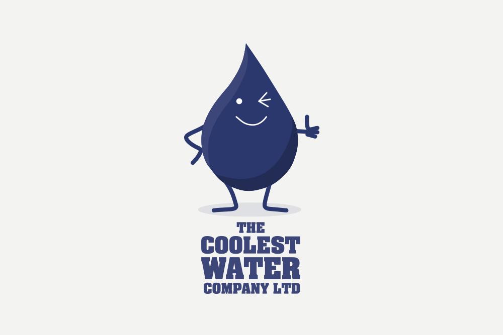 Portfolio project: The Coolest Water Ltd logo | Beehive Green Design Studio