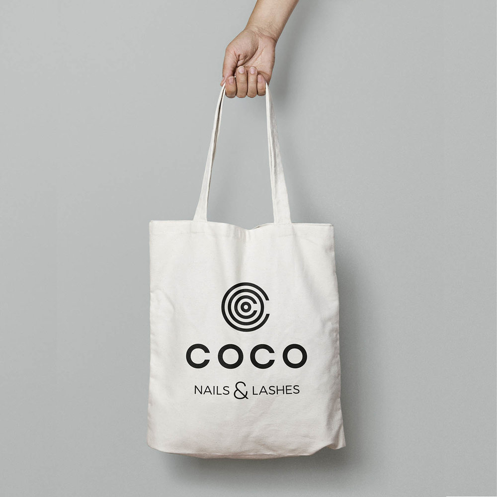 Portfolio project: Coco canvas tote bag | Beehive Green Design Studio