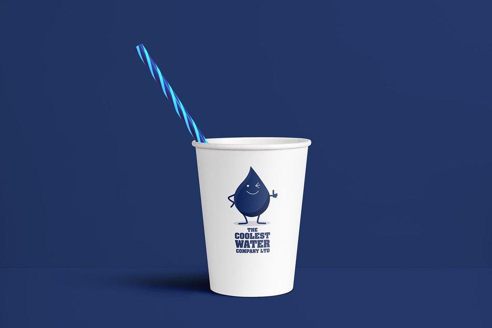 Portfolio project: The Coolest Water Ltd paper cup | Beehive Green Design Studio