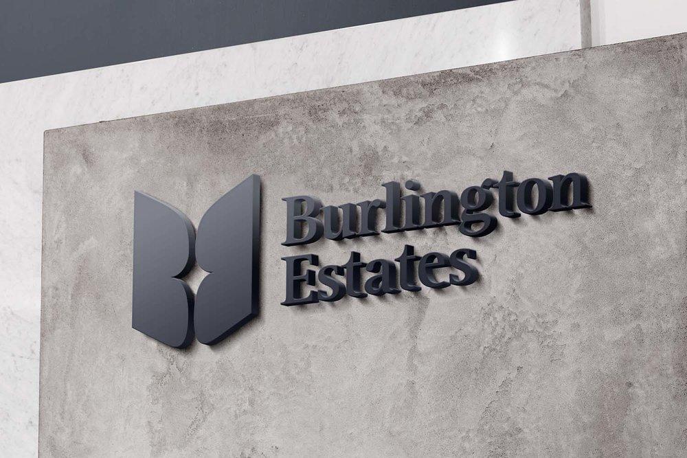 Portfolio project: Burlington Estates sign | Beehive Green Design Studio