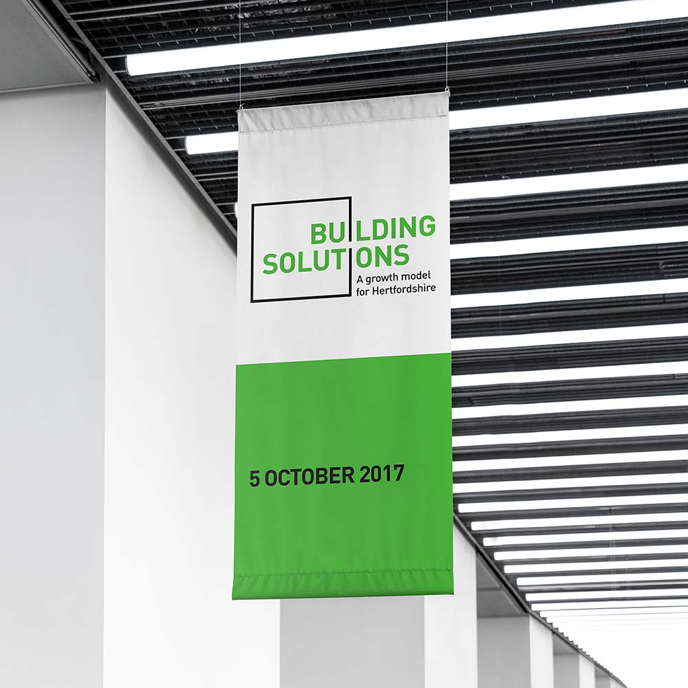 Portfolio project: Building solutions banner | Beehive Green Design Studio