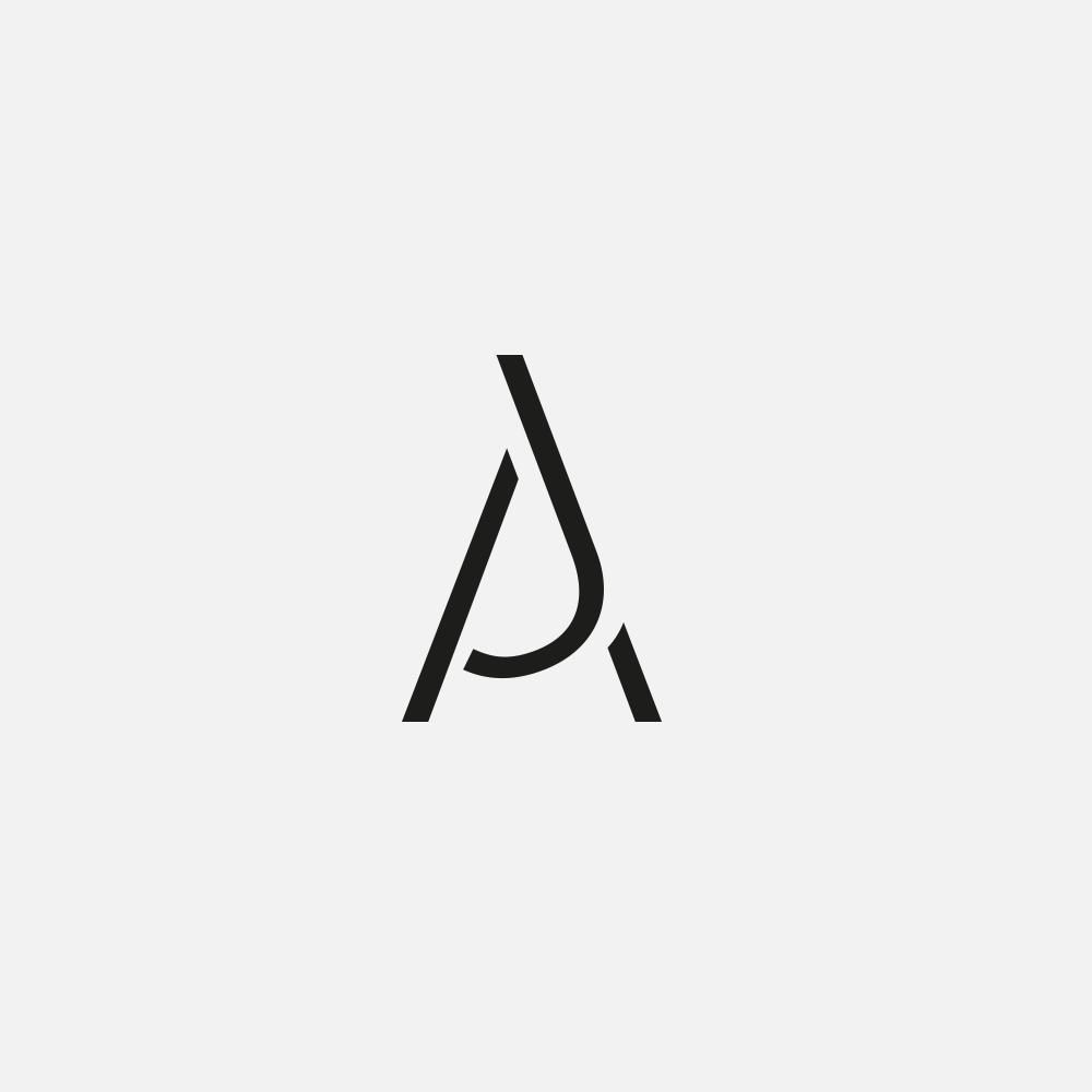 Portfolio | AJ monogram | Beehive Green Design Studio