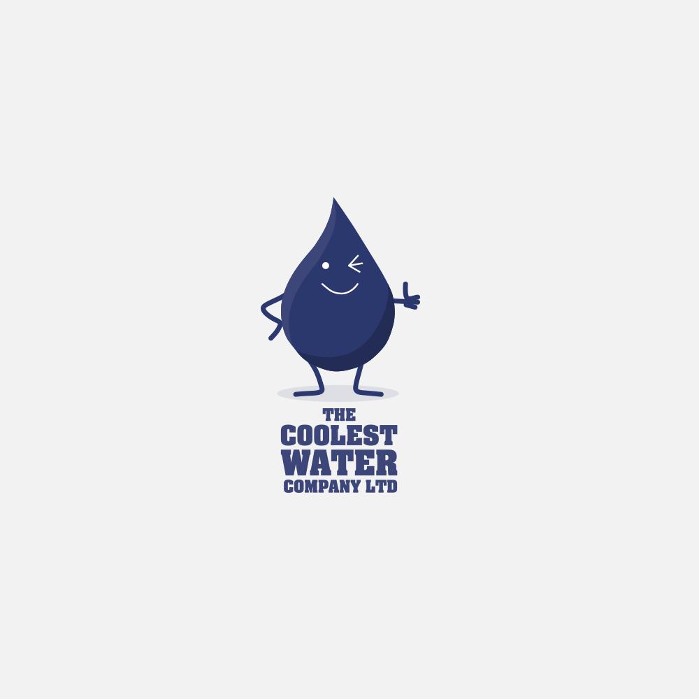 Portfolio | The Coolest Water Company logo | Beehive Green Design Studio
