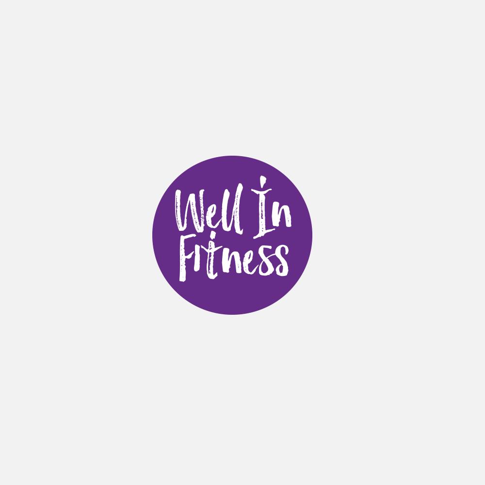 Portfolio | Well In Fitness concept logo | Beehive Green Design Studio