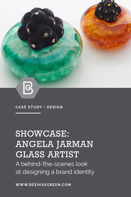 Blog | Brand Identity Project Case study: Angela Jarman Glass Artist | Beehive Green Design Studio | Logo and Branding Design, WGC, Hertfordshire