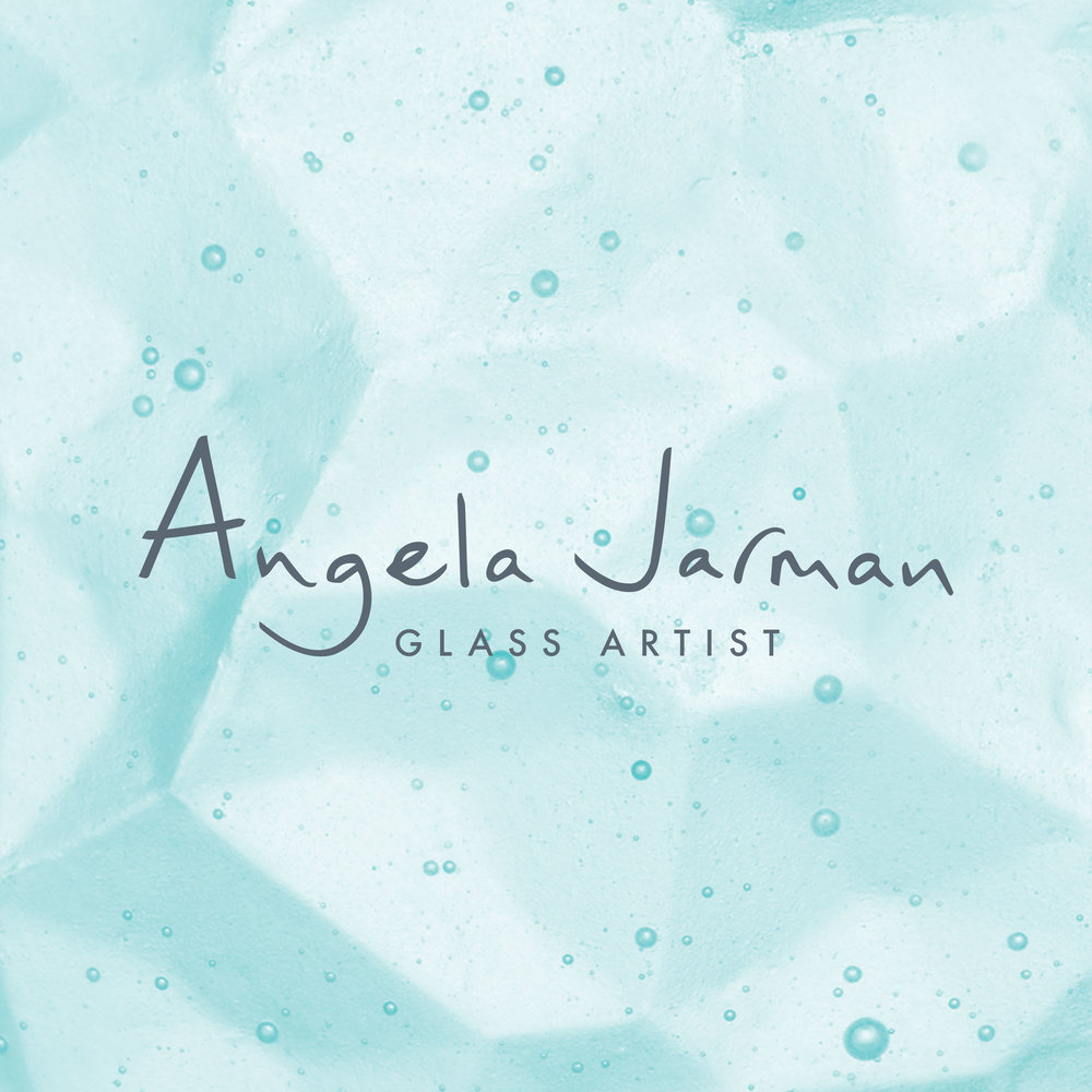 Portfolio project: Angela Jarman primary logo | Beehive Green Design Studio