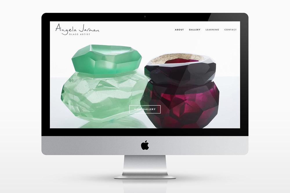 Portfolio project: Angela Jarman Website | Beehive Green Design Studio