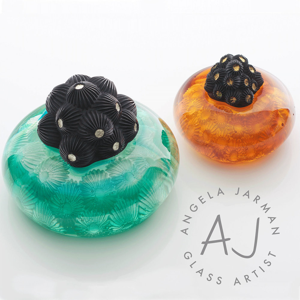 Portfolio Project: Angela Jarman Glass Artist | Beehive Green Design Studio | Logo and Branding Design, WGC, Hertfordshire