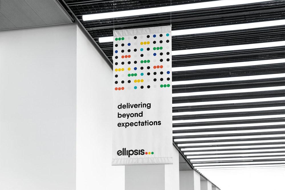 Portfolio project: Ellipsis banner design | Beehive Green Design Studio