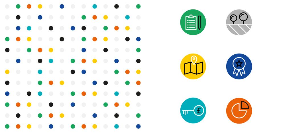 Portfolio project: Ellipsis icon and pattern design | Beehive Green Design Studio