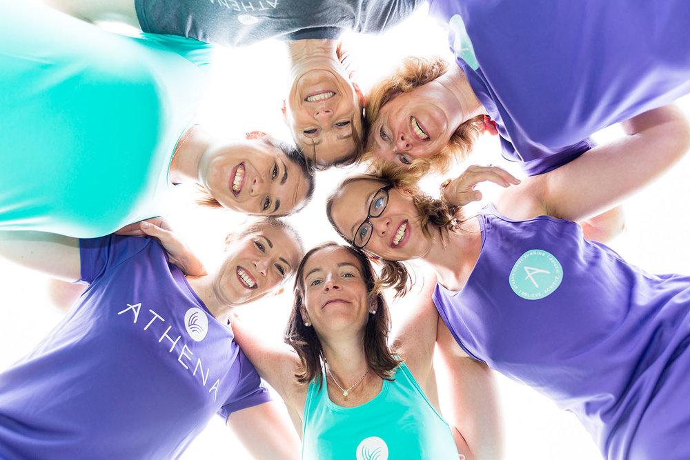 Portfolio project: Athena ladies running branding photography | Beehive Green Design Studio